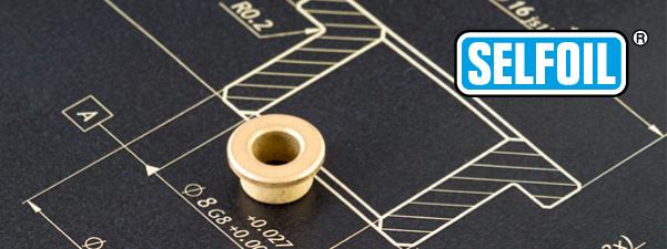 plànol 3D dels coixinets SELFOIL sinteritzts autolubricats