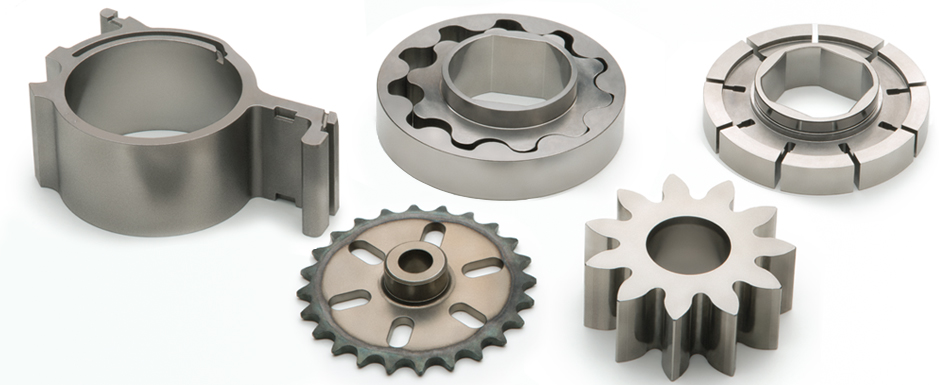 Structural sintered components for oil pumps